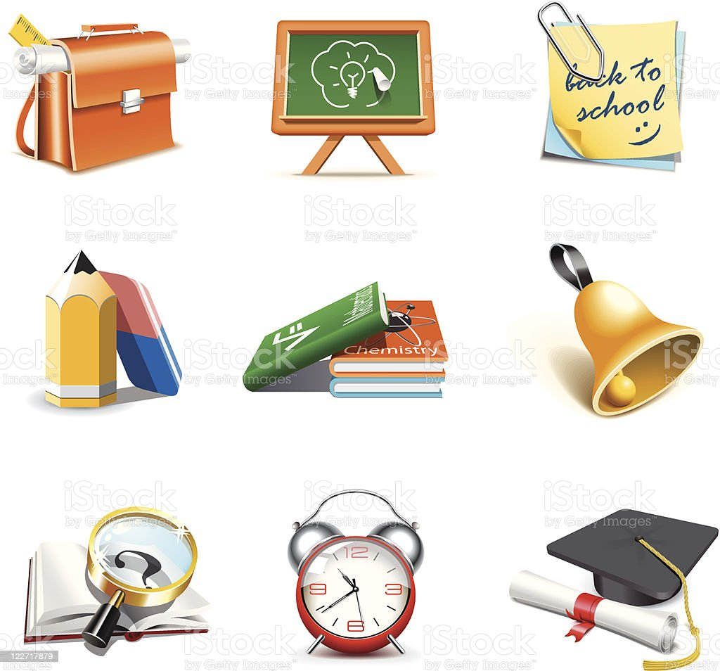 School icons | Bella series royalty-free stock vector art