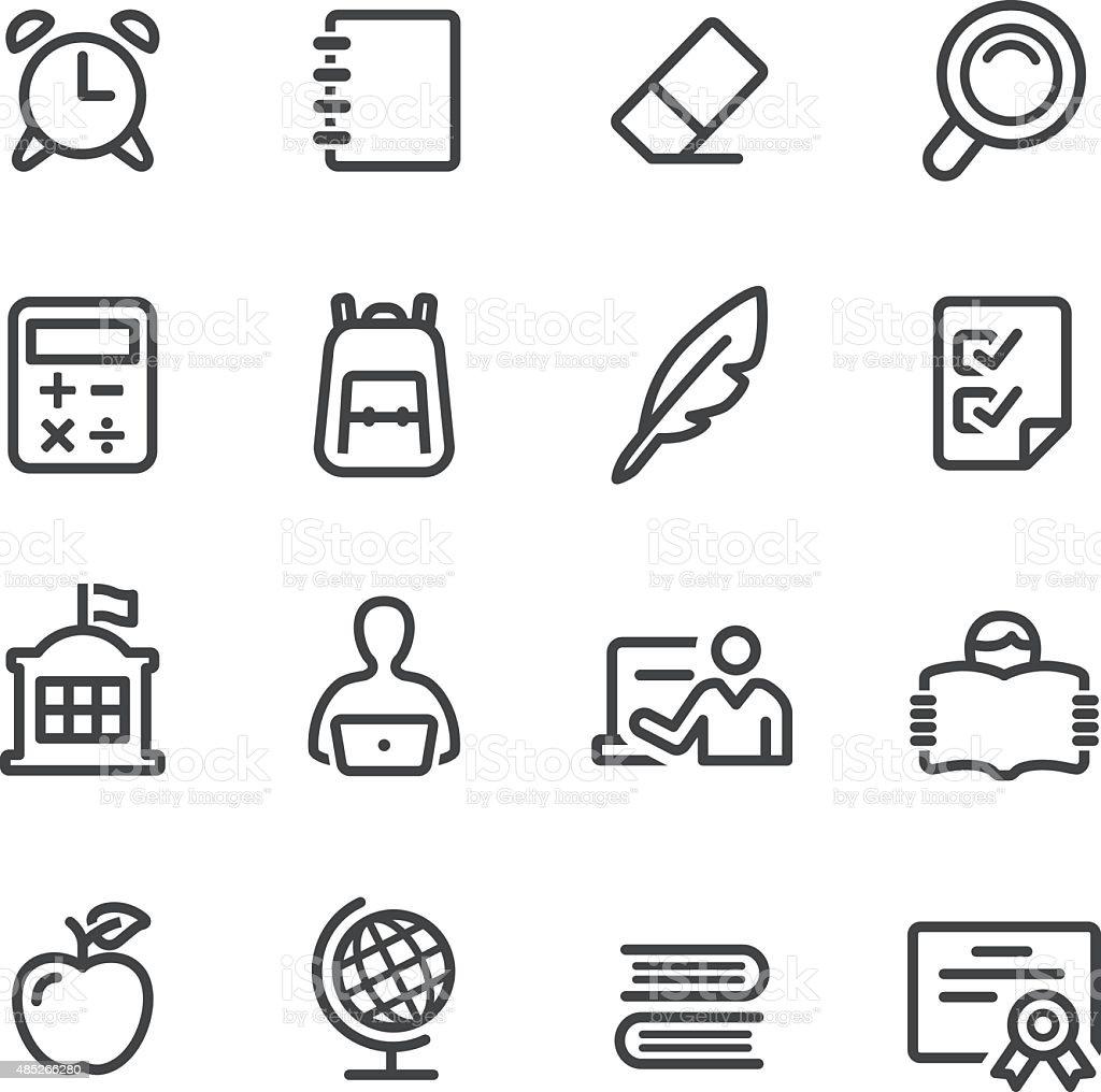 School Icons - Line Series vector art illustration