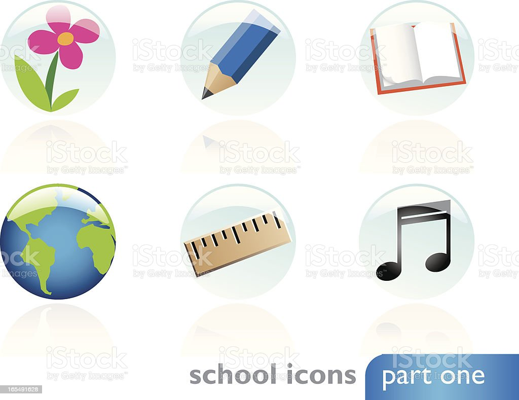 School Icons - Part One vector art illustration