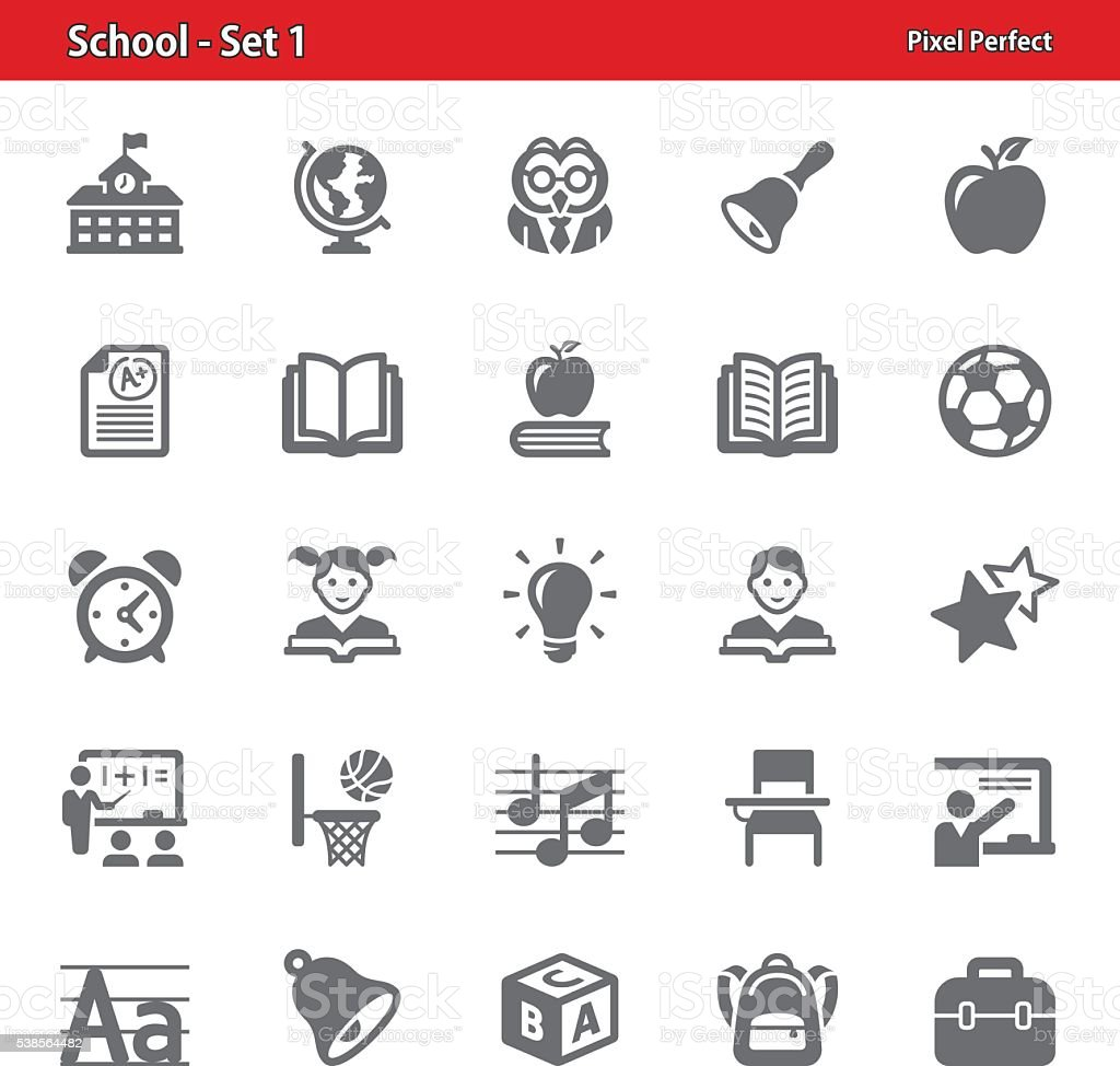 School Icons - Set 1 vector art illustration