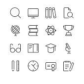 School Icons set 2 | Black Line series