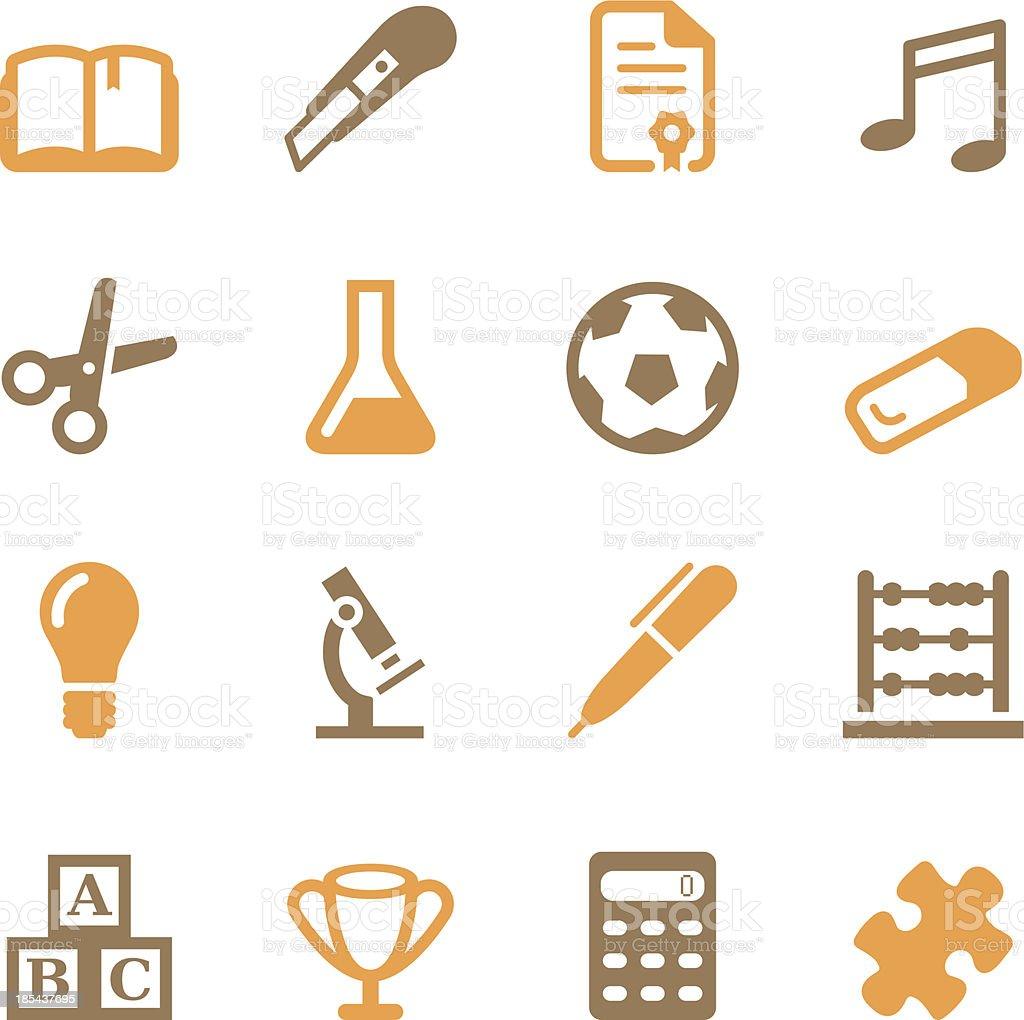 School Icons   Set 2 - Color Series vector art illustration
