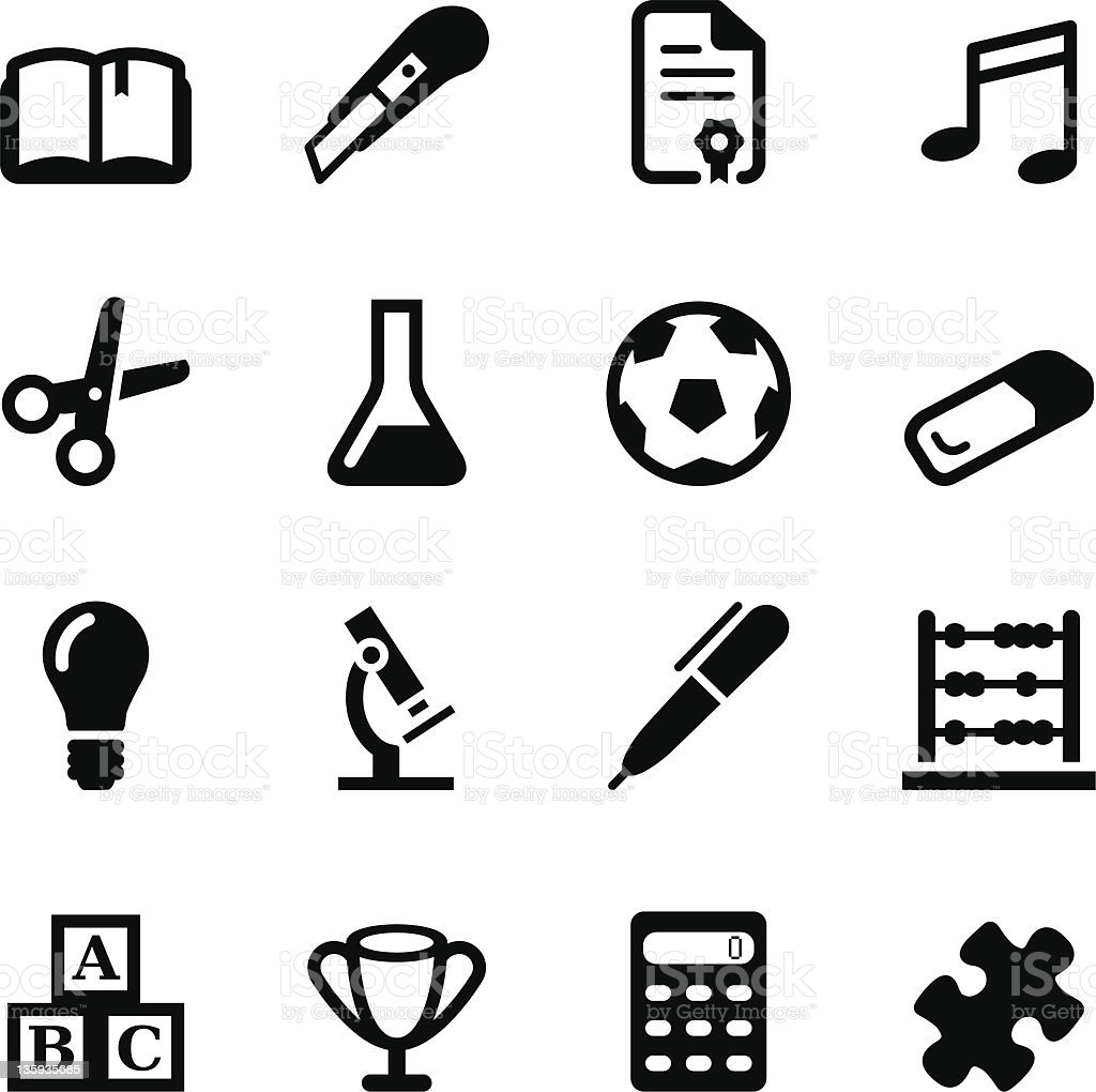 School Icons | Set 2 royalty-free stock vector art