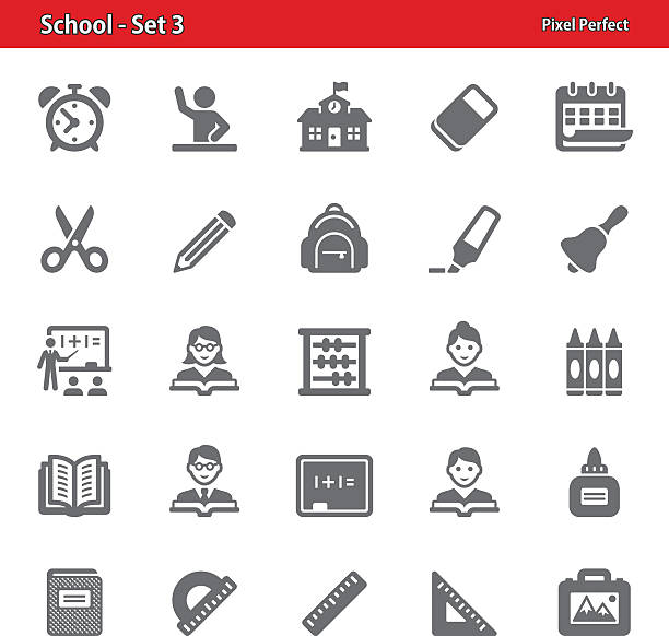 School Icons - Set 3 vector art illustration