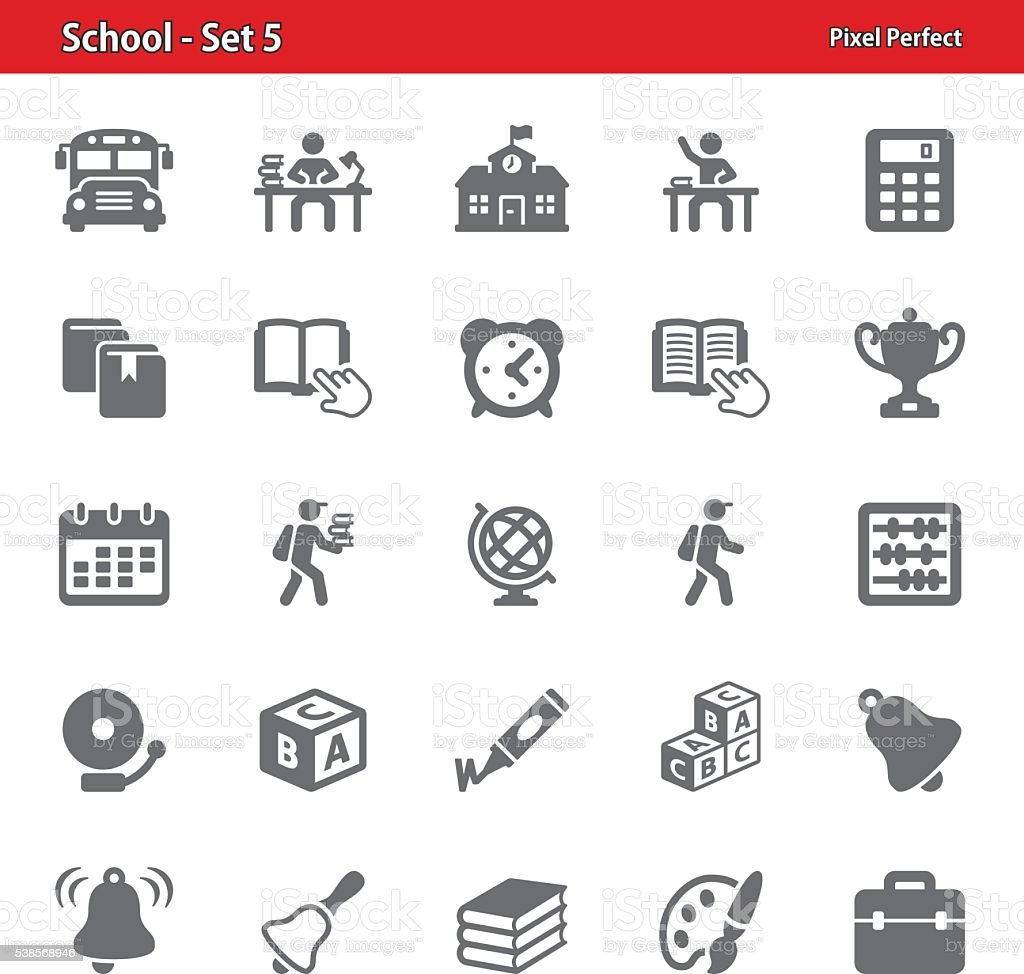 School Icons - Set 5 vector art illustration