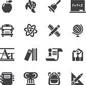 School icons - Silhouette icons