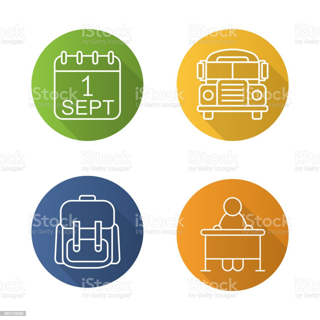 School icons royalty-free school icons stock vector art & more images of backpack