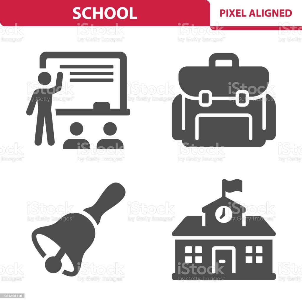 School icônes - Illustration vectorielle