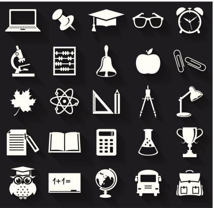 School icons. Vector set.