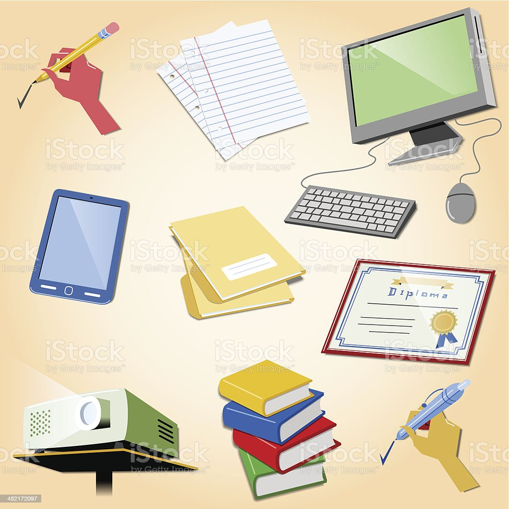 School items royalty-free school items stock vector art & more images of back to school