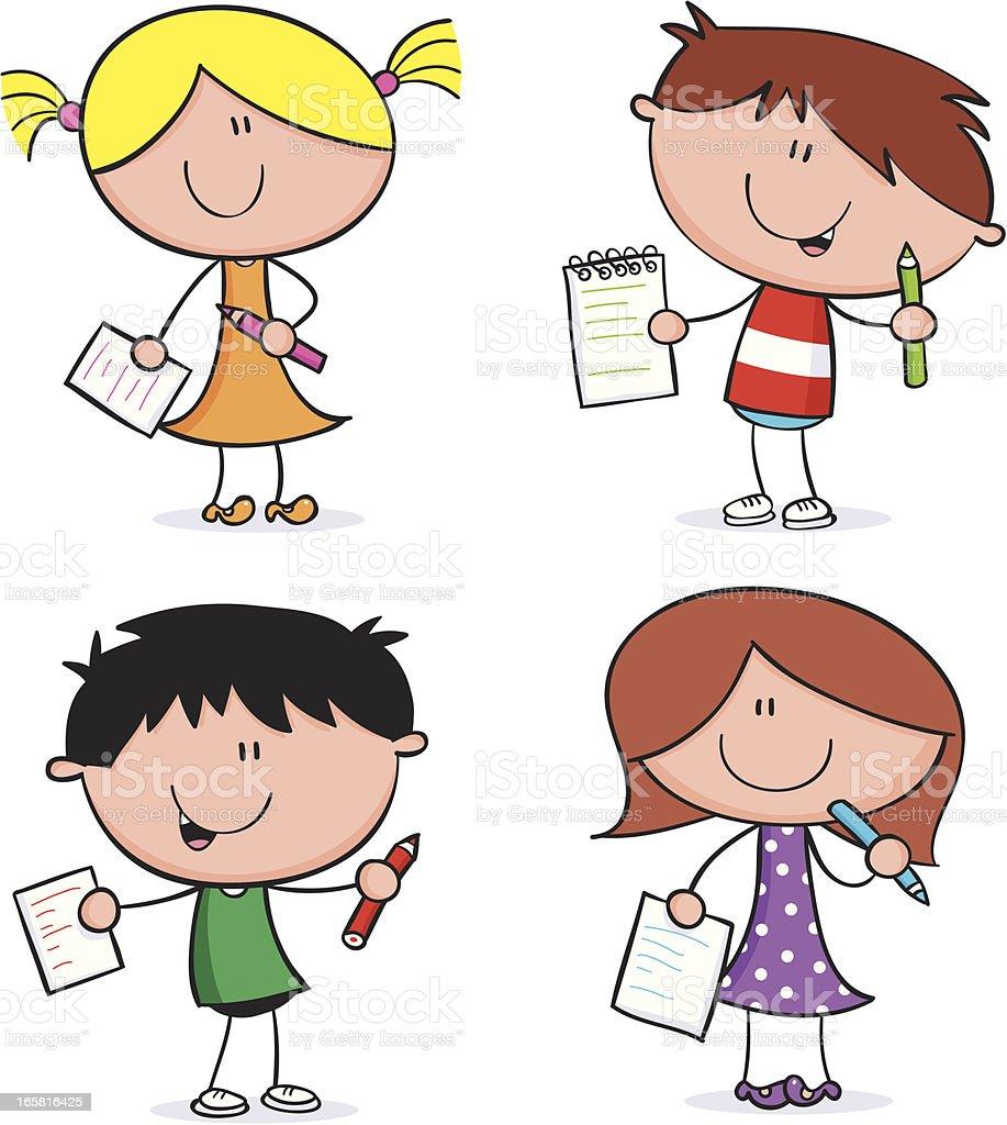 School Kids royalty-free school kids stock vector art & more images of book