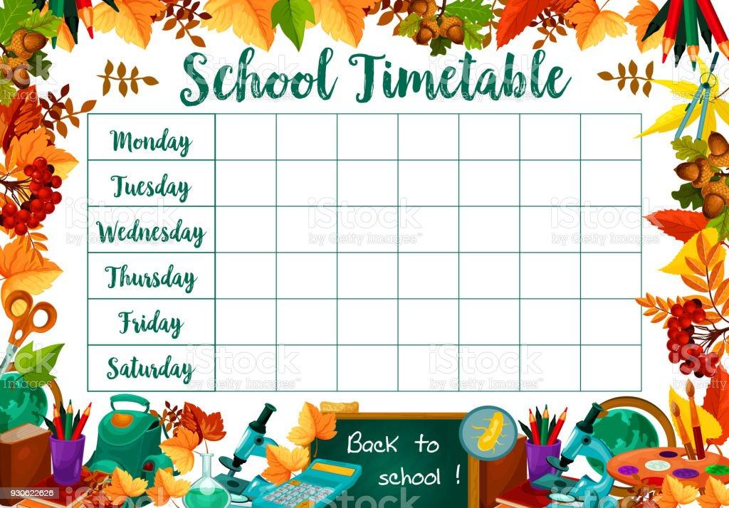 Berühmt Schule Zeitplan Vorlage Bilder - Beispiel Wiederaufnahme ...