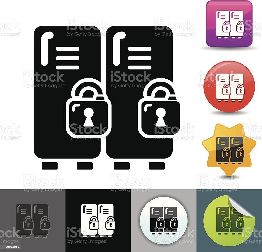 School locker icon | solicosi series vector art illustration
