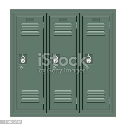 Beautiful vector design illustration of school locker isolated on white background