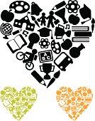 School love icons