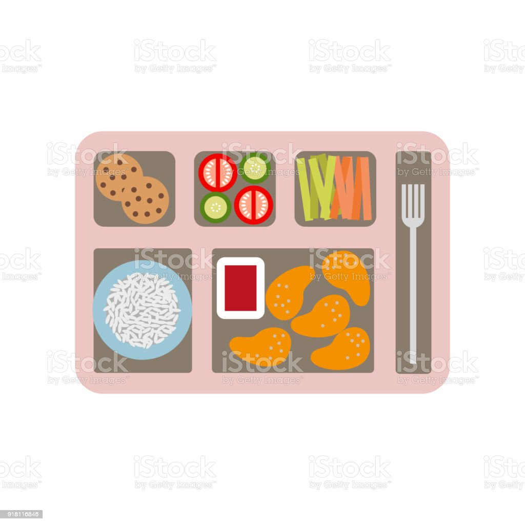 School lunch and business lunch box. vector art illustration