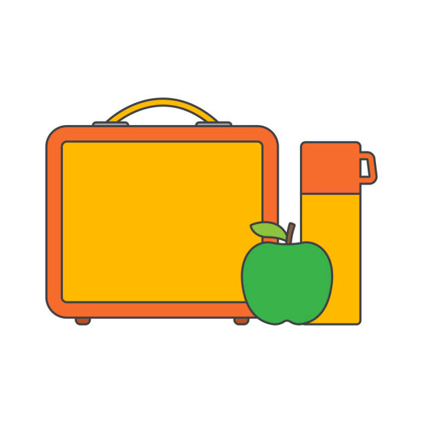 school lunch boxes - lunch box stock illustrations, clip art, cartoons, & icons