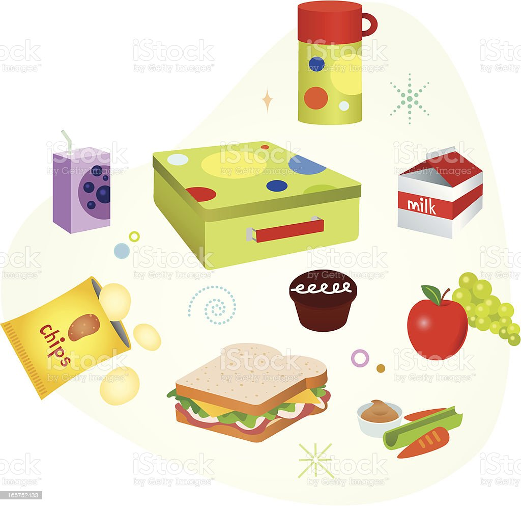 School Lunch vector art illustration