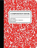 istock School Marble Composition Book -Red (vector) 165037891