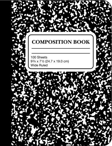 School Marble Composition Book (vector & jpg)