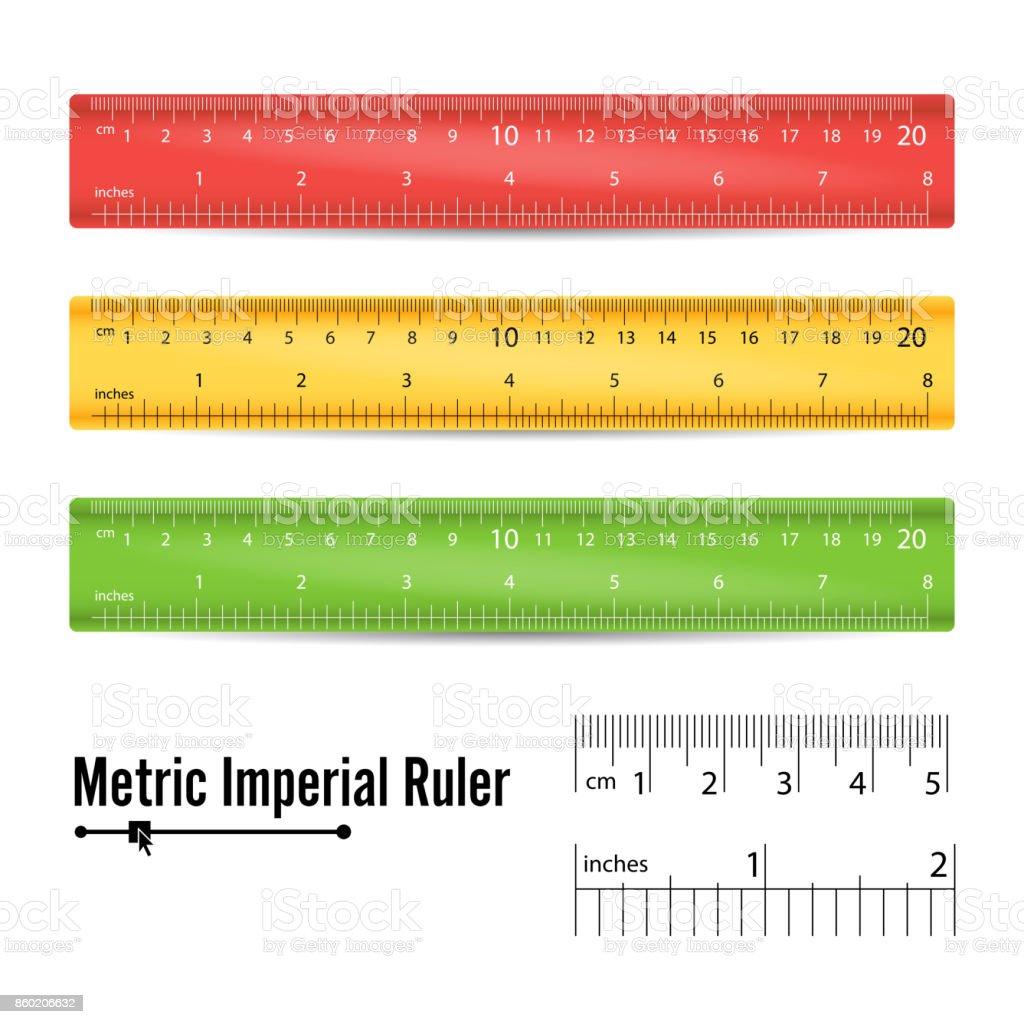 School measuring ruler vector measure tool millimeters centimeters school measuring ruler vector measure tool millimeters centimeters and inches scale isolated buycottarizona