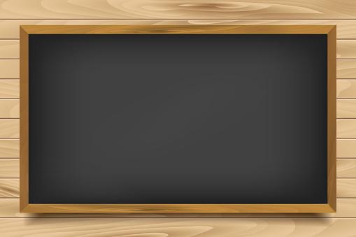 School nero Board on wooden background
