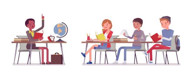 学校の正常な動作 - 教室点のイラスト素材/クリップアート素材/マンガ素材/アイコン素材
