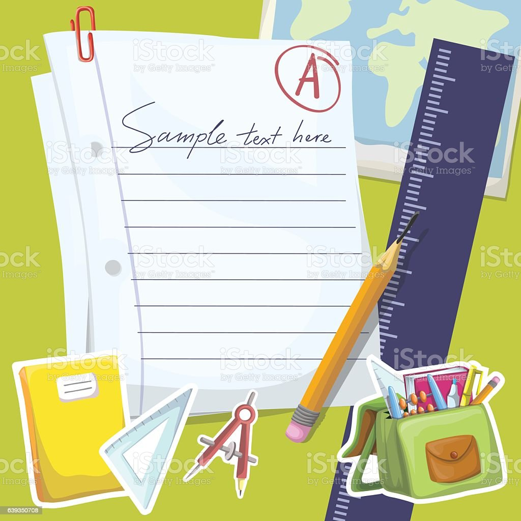 School Note Illustration royalty-free school note illustration stock vector art & more images of education