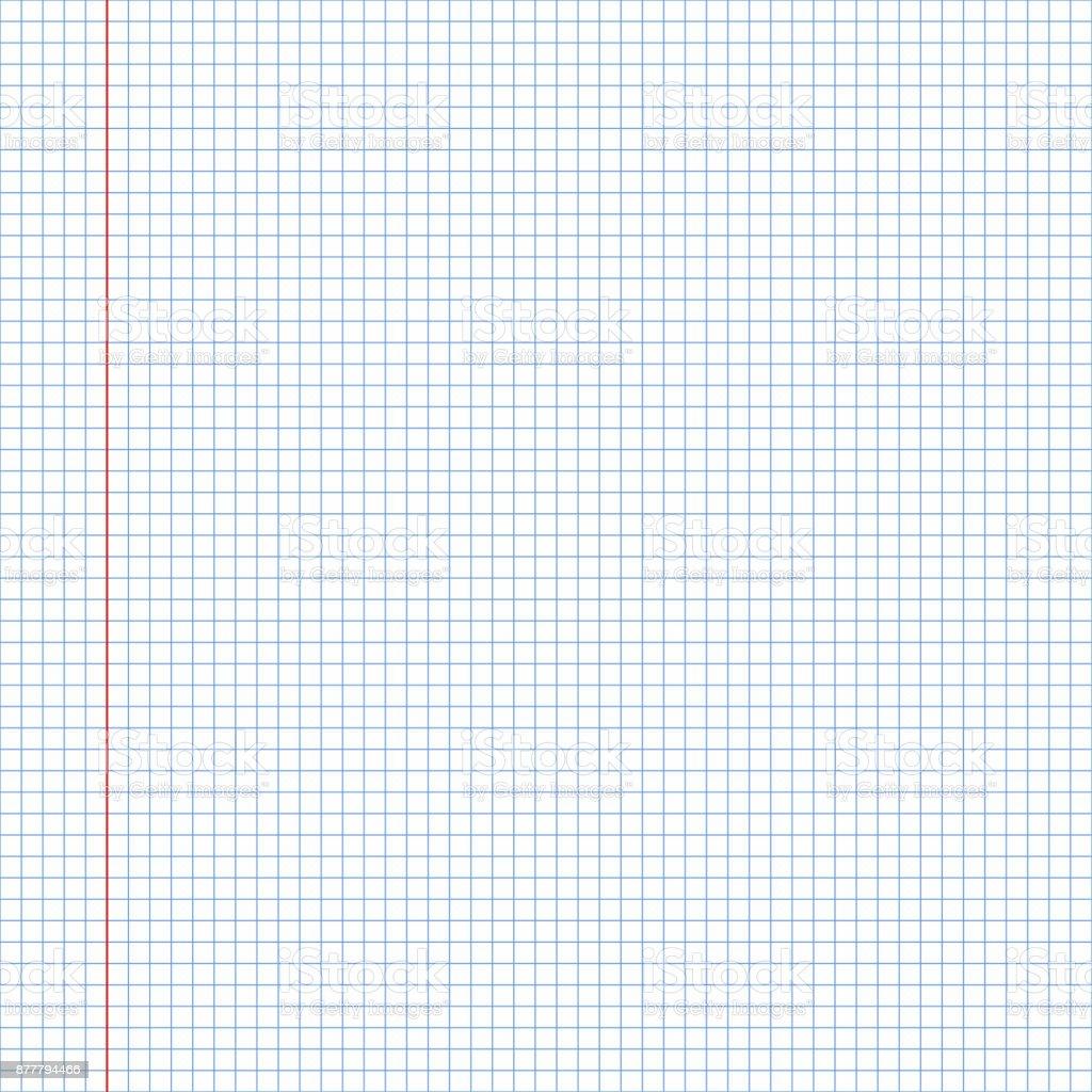 Ilustración de Textura De Papel De Cuaderno Escolar De Patrones Sin ...