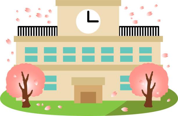 日本の学校の卒業式 2 - 中学校点のイラスト素材/クリップアート素材/マンガ素材/アイコン素材