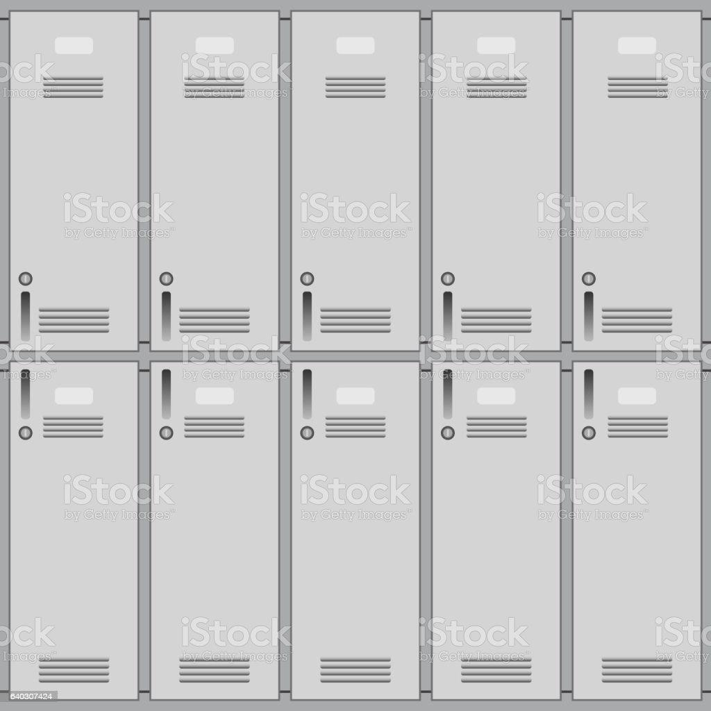 School or changing room lockers vector art illustration