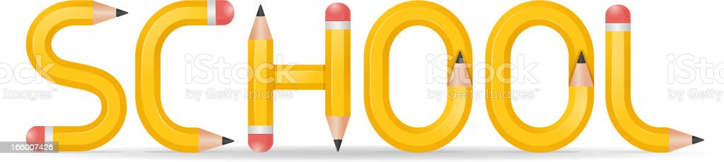 School pencils royalty-free stock vector art