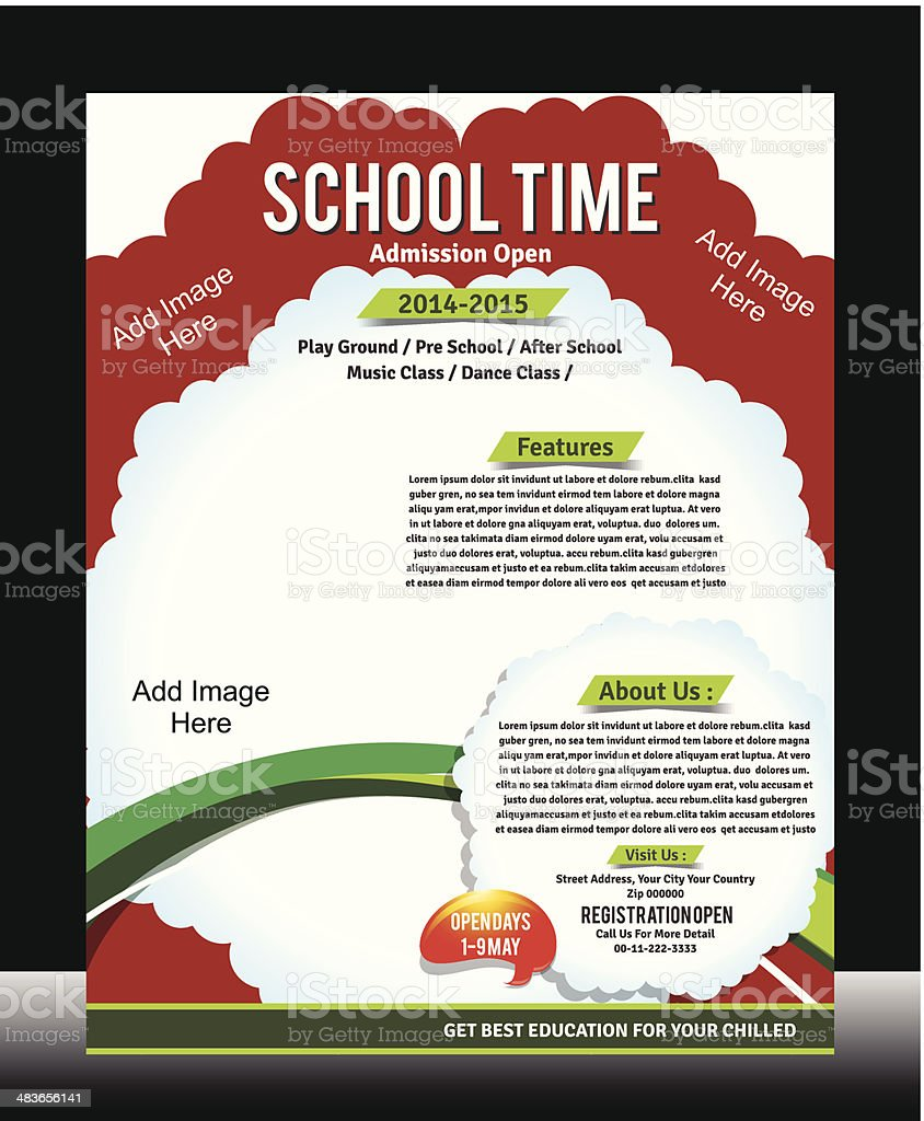 school promotion flyer template stock vector art more images of