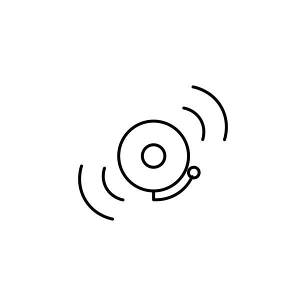 school ring icon vector art illustration