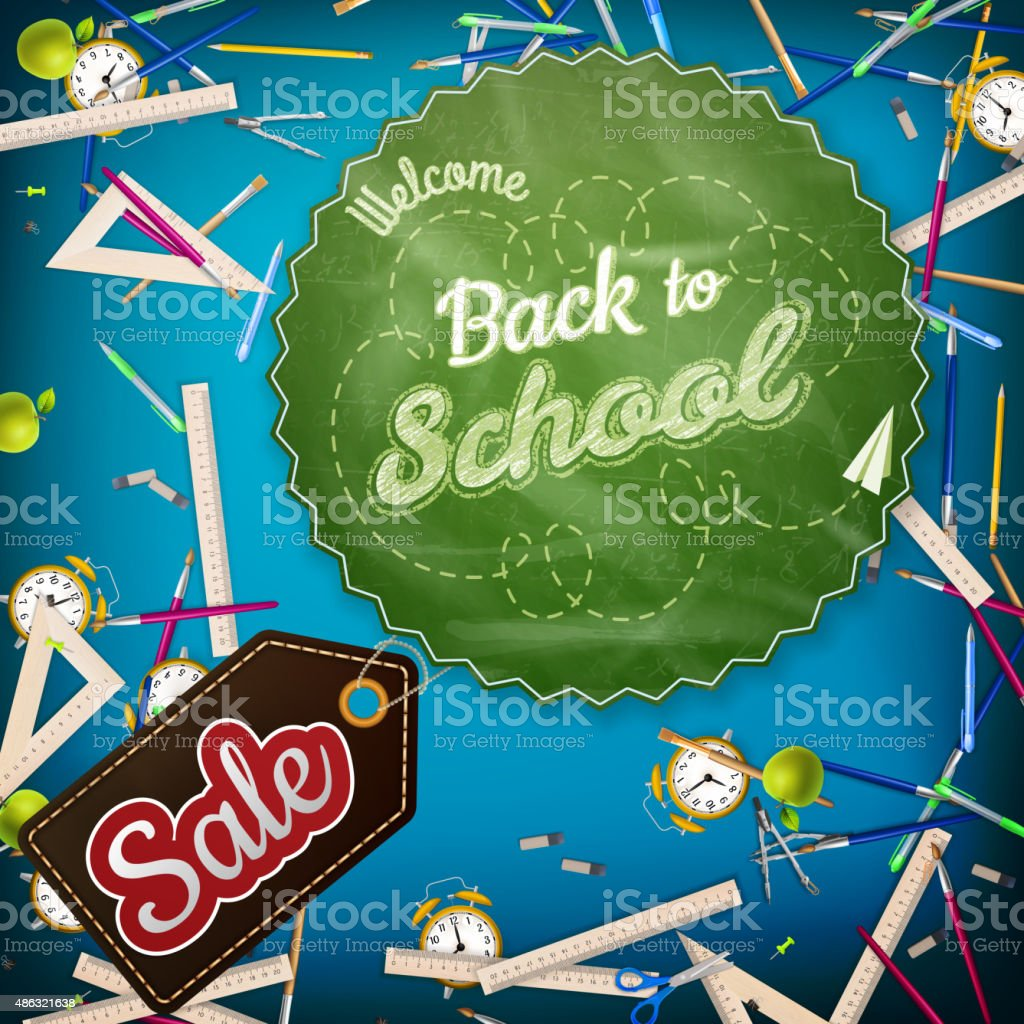School Sale template. EPS 10 vector art illustration