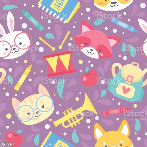 School seamless pattern for children vector id821778714?b=1&k=6&m=821778714&s=612x612&h=wjmmhsflevmpmllcwmabapyoedyecz12nxq59o0fq9m=