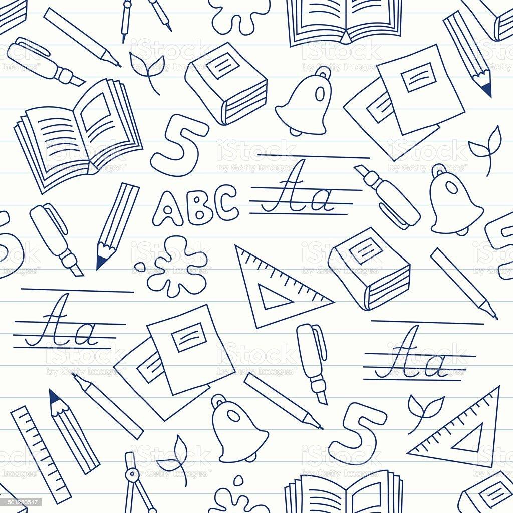 School seamless pattern royalty-free stock vector art