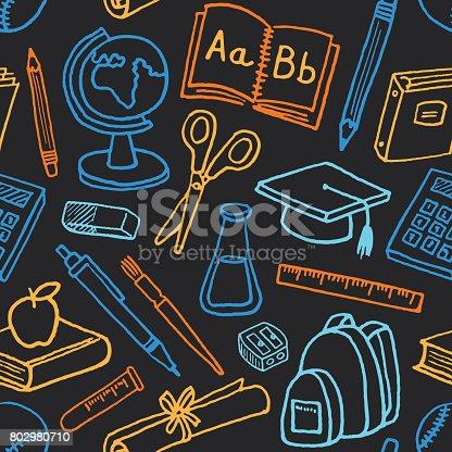 istock School Seamless Pattern 802980710