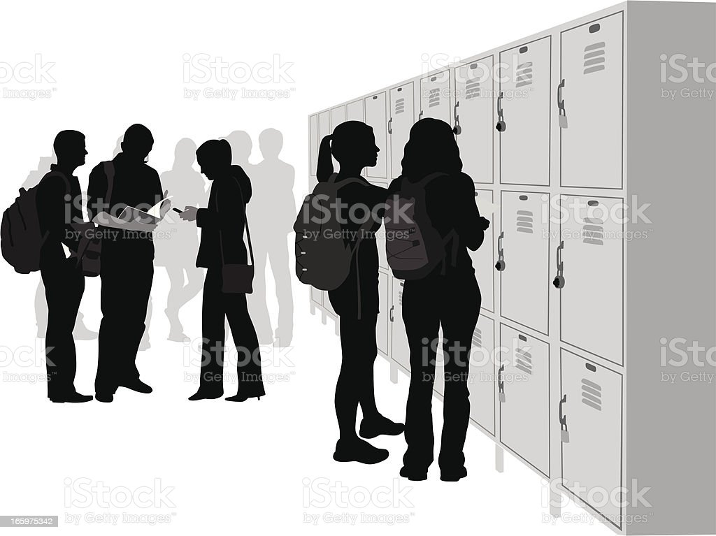 School Social Vector Silhouette vector art illustration