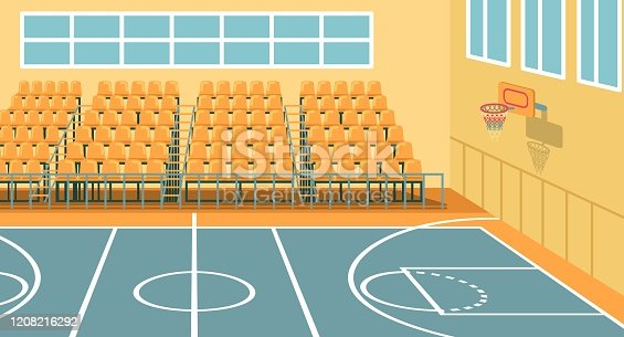 istock School Sports Hall for Trainings, Games and Events 1208216292