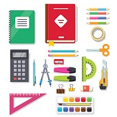 School student and office stationary supplies kit
