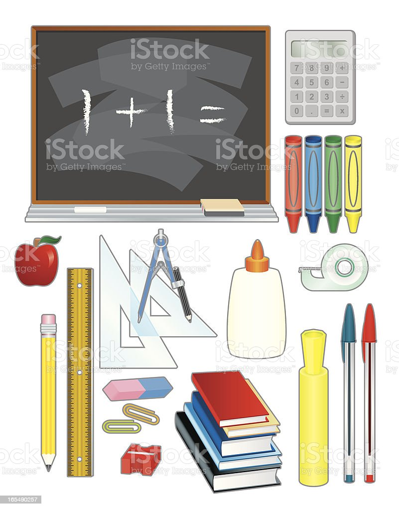 School stuff royalty-free stock vector art