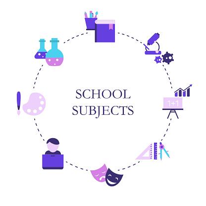 School subjects design concept.