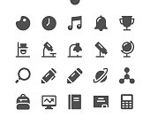 istock School Subjects UI Pixel Perfect Well-crafted Vector Solid Icons 48x48 Ready for 24x24 Grid for Web Graphics and Apps. Simple Minimal Pictogram 1205367711