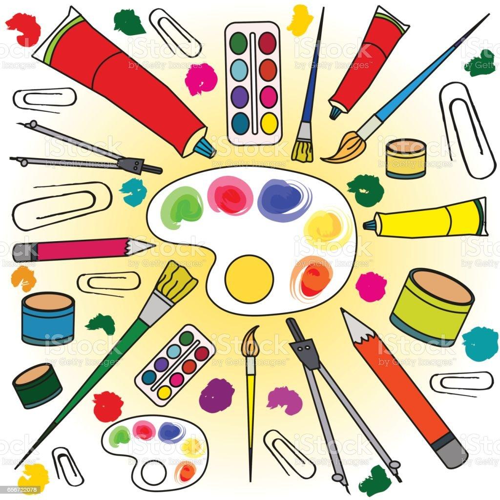 Escuela De Suministros Y Herramientas Cerca De Las Herramientas De  ~ Herramientas Pintor Profesional
