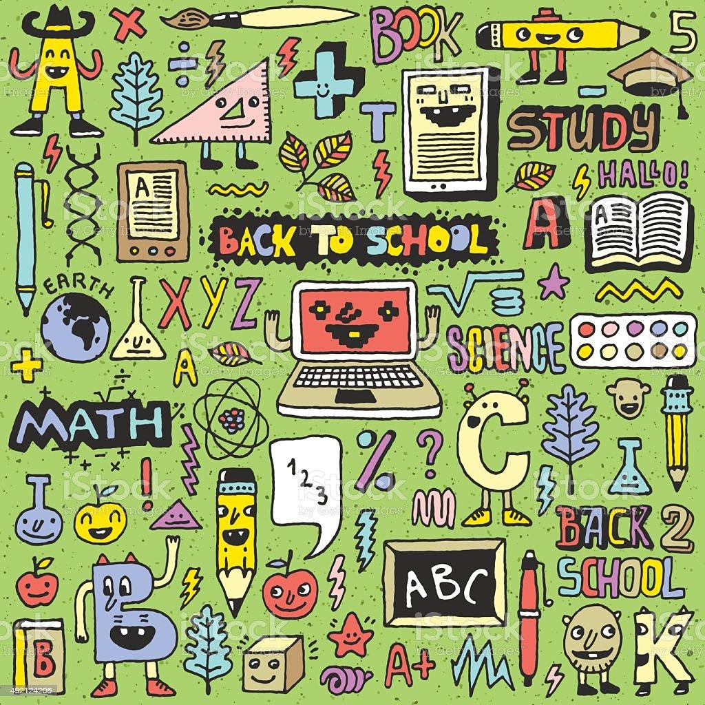 School Supplies Back To School Color Wacky Doodle Set
