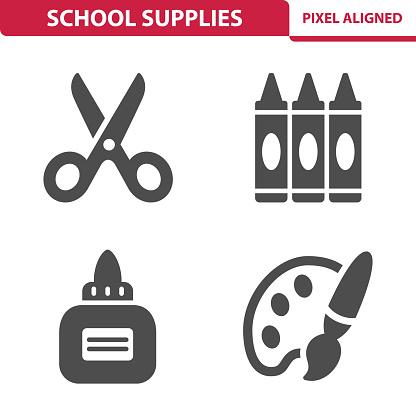 School Supplies Icons