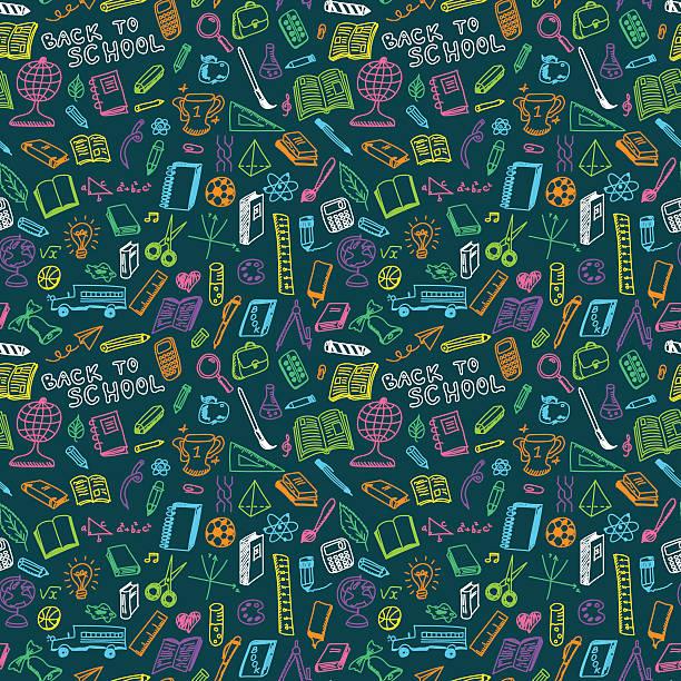 school supplies seamless - 学校の文房具点のイラスト素材/クリップアート素材/マンガ素材/アイコン素材