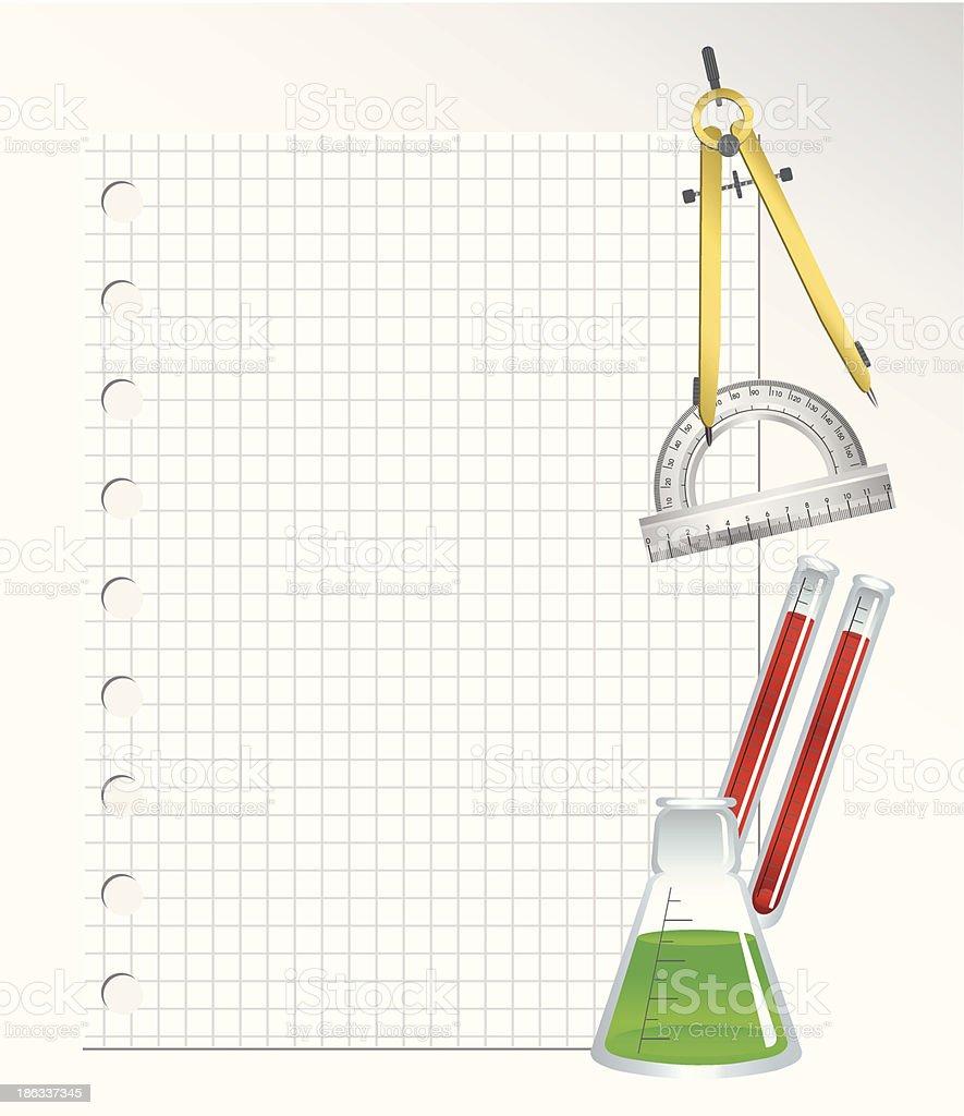 School Supplies vector art illustration