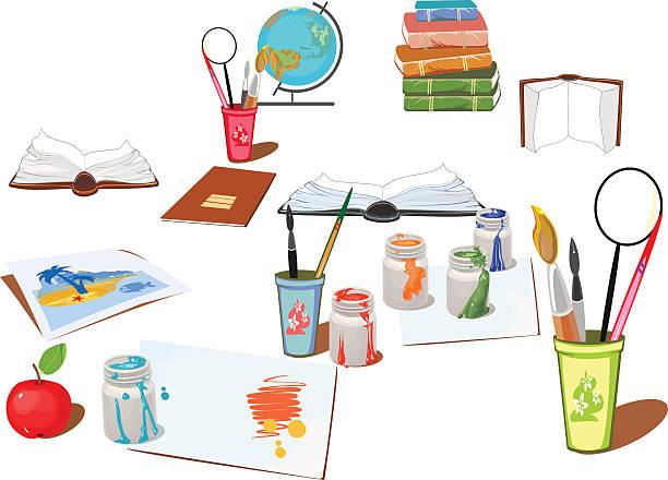Escuela de suministros - ilustración de arte vectorial